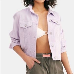 Free People NWT Rumours Lilac Denim Jacket- Small